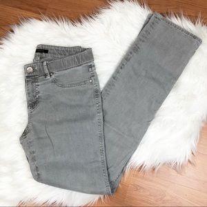 Elie Tahari Grey Straight Leg Jeans Size 6